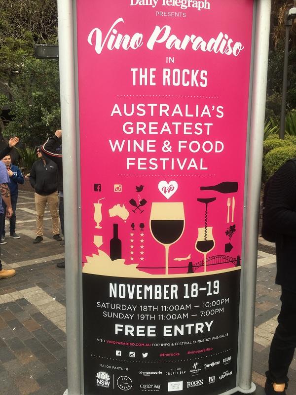 ワイン&フードフェスティバル in THE ROCKS